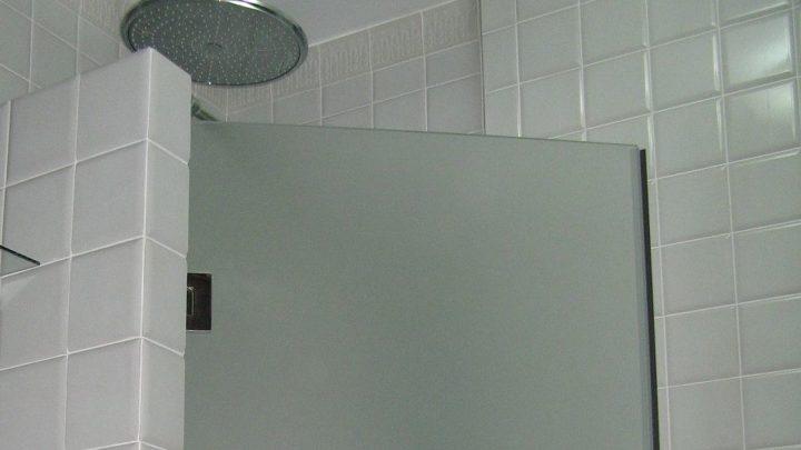 Стеклянная дверь в душе